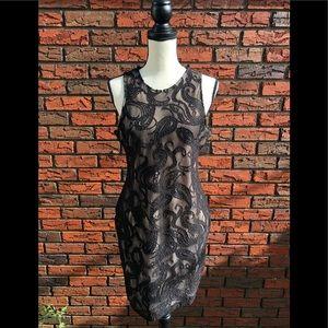 MNG by mango black lace dress